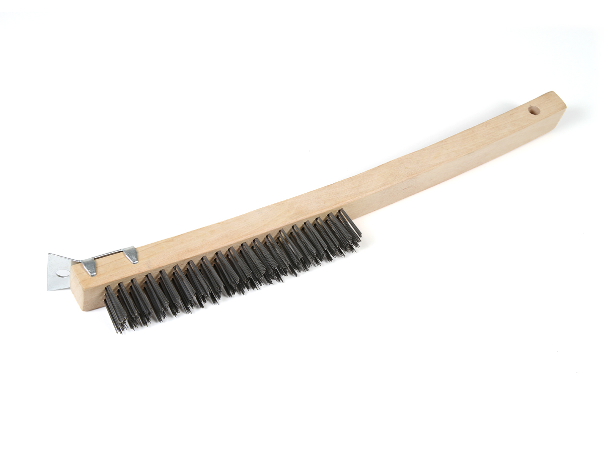 Mercer 13-1/2 Wooden Curved Handle Scratch Brush