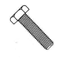 Metric 8.8 Steel Zinc Blue Plated Coarse Thread Tap Bolts (Full Thread) Din 933
