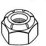 Metric Low Carbon Steel Zinc Plated Nylon Insert Lock Nuts Din 985