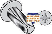 Metric Pan Head Steel Zinc Plated, Baked & Waxed Thread Rolling Screws Din 7500 C Type Z Recess (1A)