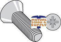 Metric Phillips Flat Head Steel Zinc Plated Thread Rolling Screws Din 7500 M Type Z Recess (1A)