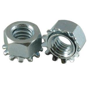 Metric Steel Class 8 Zinc Plated Kep (K-Lock) Nuts