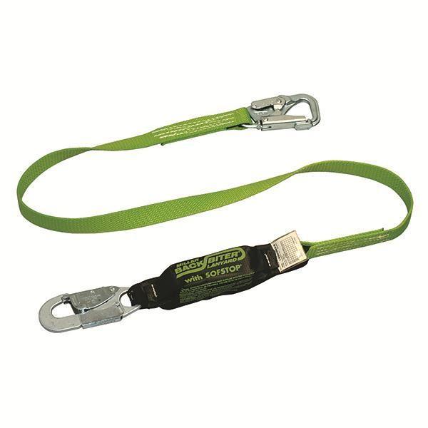 Miller® BackBiter® Tie-Back Shock-Absorbing Lanyard, Single Leg