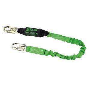 Miller® StretchStop® Lanyard, Single Leg w/ Locking Snap Hook, 6'