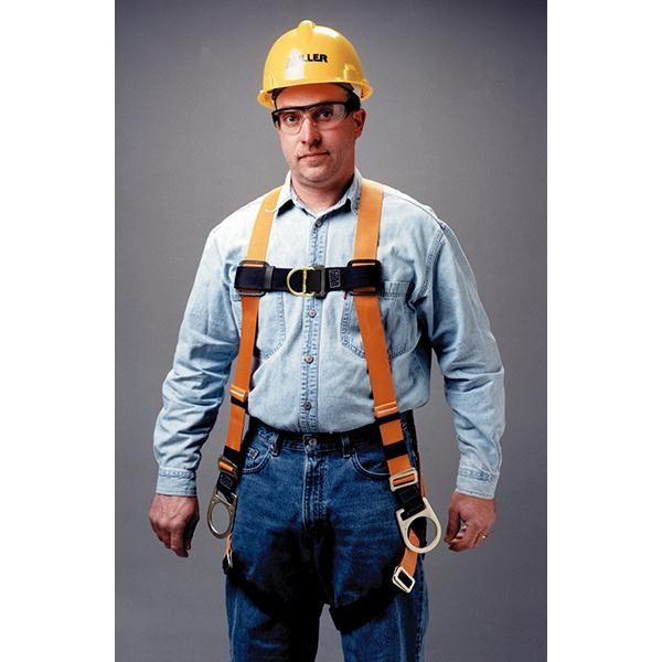 Miller® Titan™ Non-Stretch Harness w/ Side D-Rings & Mating Leg Strap Buckles, Universal