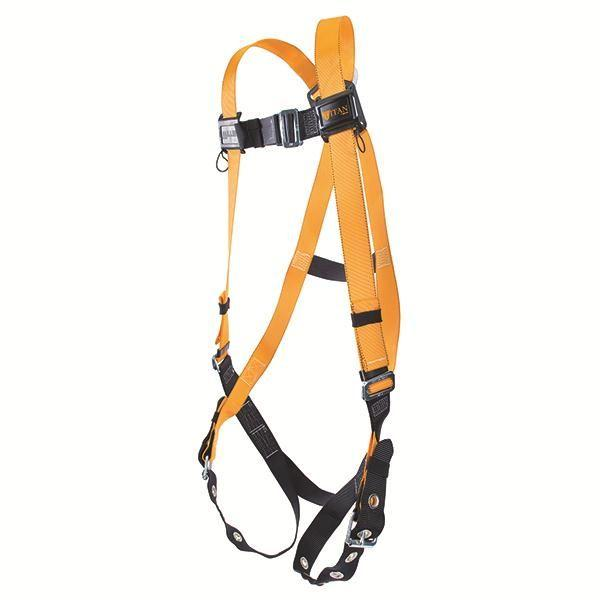 Miller® Titan™ Non-Stretch Harness w/ Side D-Rings & Tongue Leg Strap Buckles, Universal