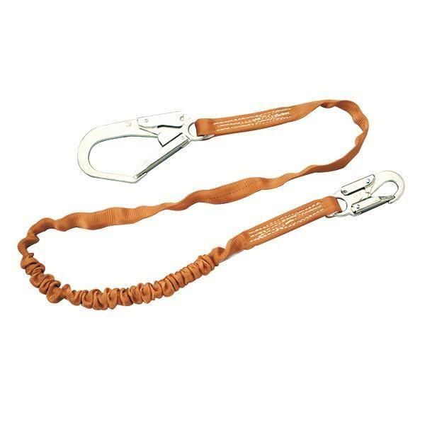 Miller® Titan™ Shock-Absorbing Lanyard Tubular, Single Leg w/ Locking Rebar Hook