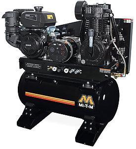 Mi-T-M 30 Gallon Two Stage Gasoline Combination Air Compressor Generator - Kohler Engine
