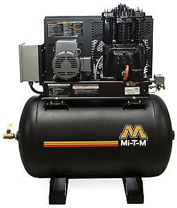 Mi-T-M ACS Series  80 Gallon Two Stage Electric Simplex Air Compressor - Horizontal