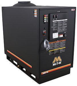 Mi-T-M HG Series 3000 PSI Hot Water Natural Gas/LP Belt Drive Pressure Washer - 20.0A