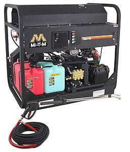 Mi-T-M HS Series 3500 PSI Hot Water Gasoline Belt Drive Pressure Washer - 5.6 GPM