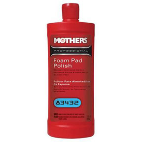 Mothers Wax & Polish Foam Pad Polish, Qt.