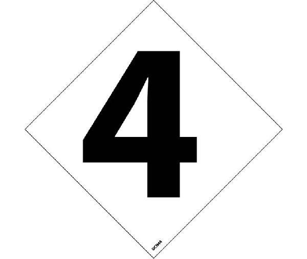 nfpa label number 4 u0026quot