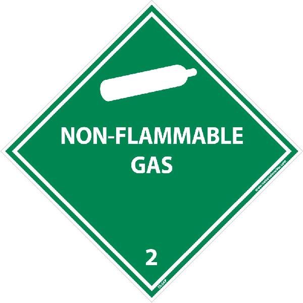 Flammable /& Non-Flammable Blank Placard Sign NMC DL2BUV10 2 Gases Poison