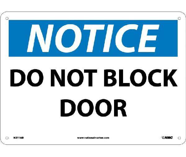 NOTICE DO NOT BLOCK DOOR SIGN  sc 1 st  Mutual Screw & NOTICE DO NOT BLOCK DOOR SIGN - Mutual Screw u0026 Supply