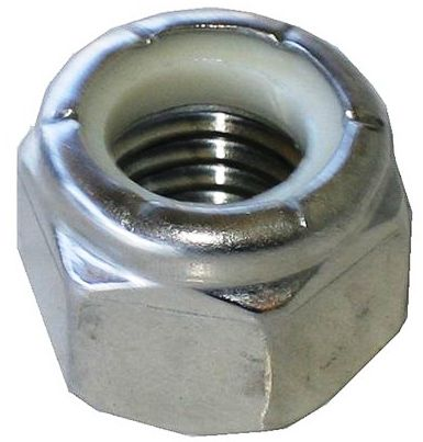 (NU) Zinc Plated Steel Nylon Insert Lock Nuts