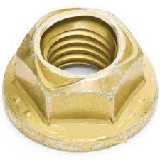 Nylon Insert Flange Hex Stop Nuts Grade 8 Alloy Steel Zinc Yellow Plated