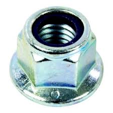 Nylon Insert Flange Hex Stop Nuts Steel Zinc Plated
