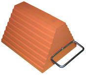 Orange Molded Rubber Chock (Handle)