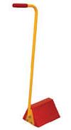 Orange Molded Rubber Chock with ergonomic-style handle