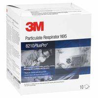 3M Particulate Respirator 8210PlusPro, N95, 10 per Box