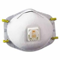 3M Particulate Respirator 8211, N95, with Faceseal, 10 per Box