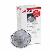 3M Particulate Respirator 8247, R95, Nuisance Level Organic Vapor Relief , 20 per Box