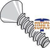 Phillips Flat Head 18/8 Stainless Steel Tri-lobular   48-2 Thread Rolling Screws