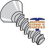 Phillips Flat Undercut Head 18/8 Stainless Steel Passivate & Wax Tri-lobular PT_  48-2 Thread Rolling Screws