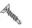 Phillips Flat Undercut Head 410 Stainless Steel #2 Point Self Drilling Screws