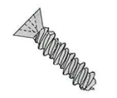 Phillips Flat Undercut Head 410 Stainless Steel High Low Screws