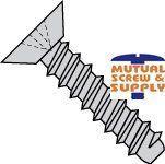 Phillips Flat Undercut Head Steel Black Oxide Finish Type B Sheet Metal Screws