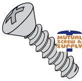 Phillips Oval Head Steel Zinc Plated Type B Sheet Metal Screws