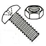 Phillips Pan Head 18/8 Stainless Steel Machine Screws with Nuts Kit