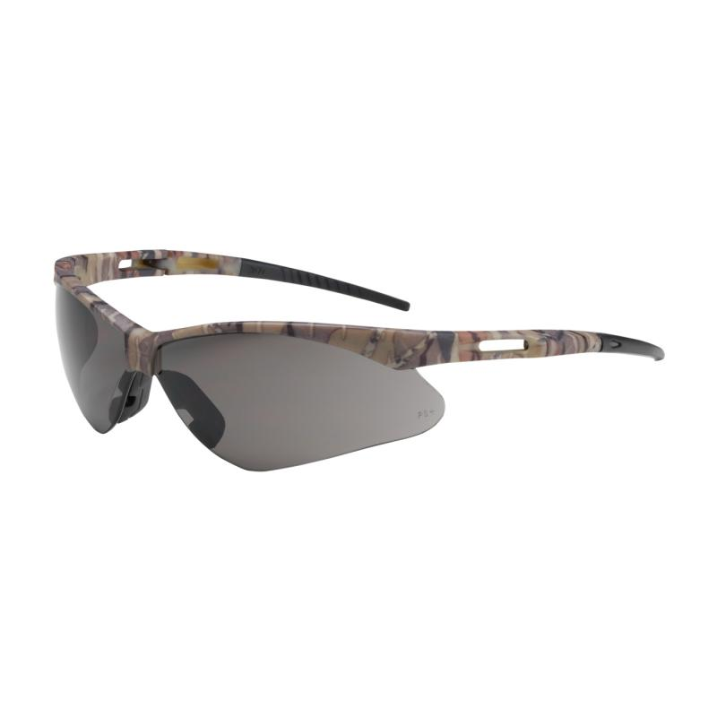 PIP Anser™ Gray Anti-Scratch Coated Lens Camouflage Temple Frame Semi-Rimless Safety Glasses