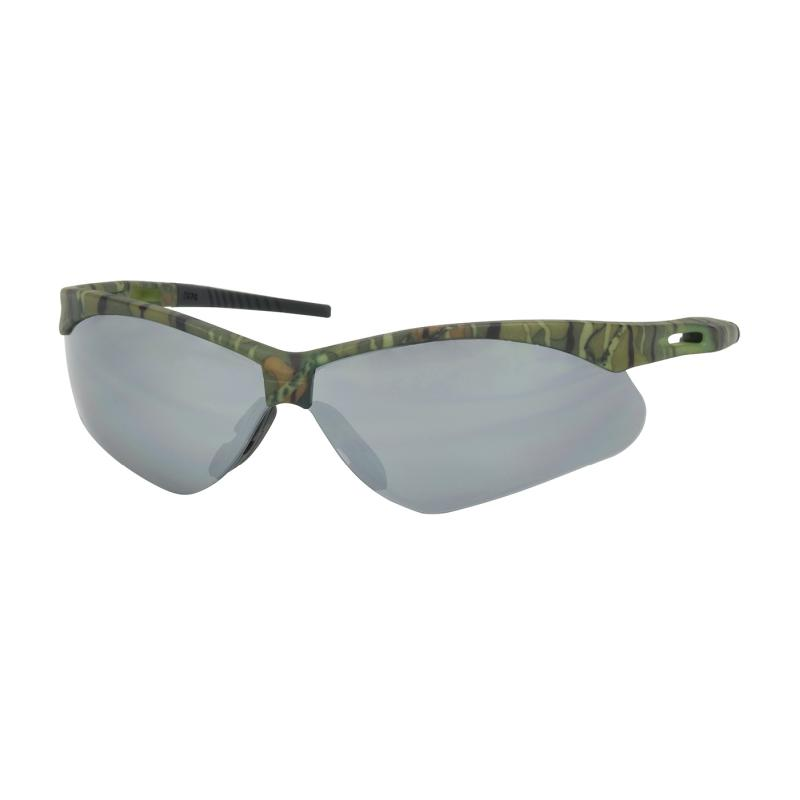 PIP Anser™ Silver Mirror Anti-Scratch Coated Lens Camouflage Temple Frame Semi-Rimless Safety Glasses