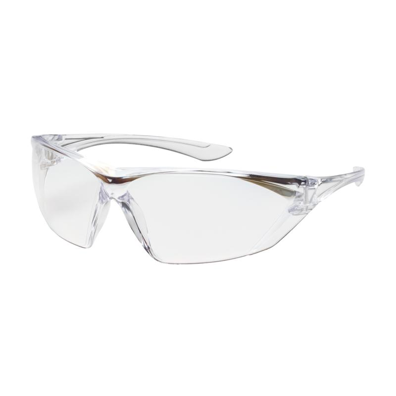 PIP Bullseye™ Clear Anti-Scratch/Fog Coated Lens & Temple Rimless Safety Glasses
