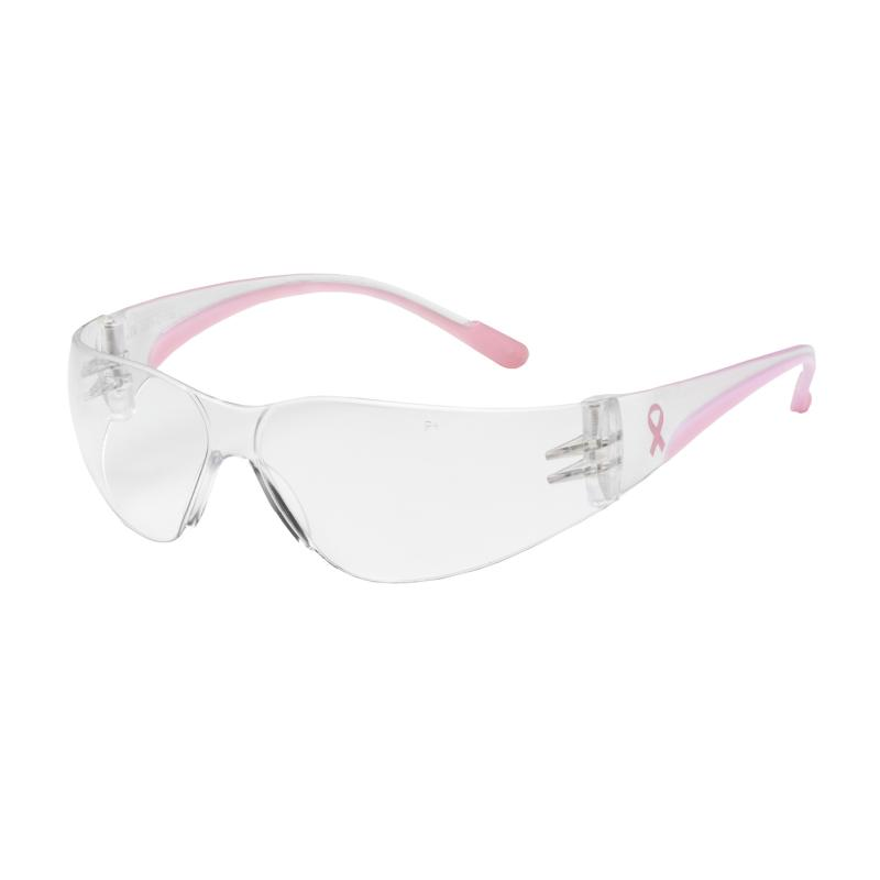 PIP Eva® Petite Clear Anti-Scratch Coated Lens Pink Temple Rimless Safety Glasses