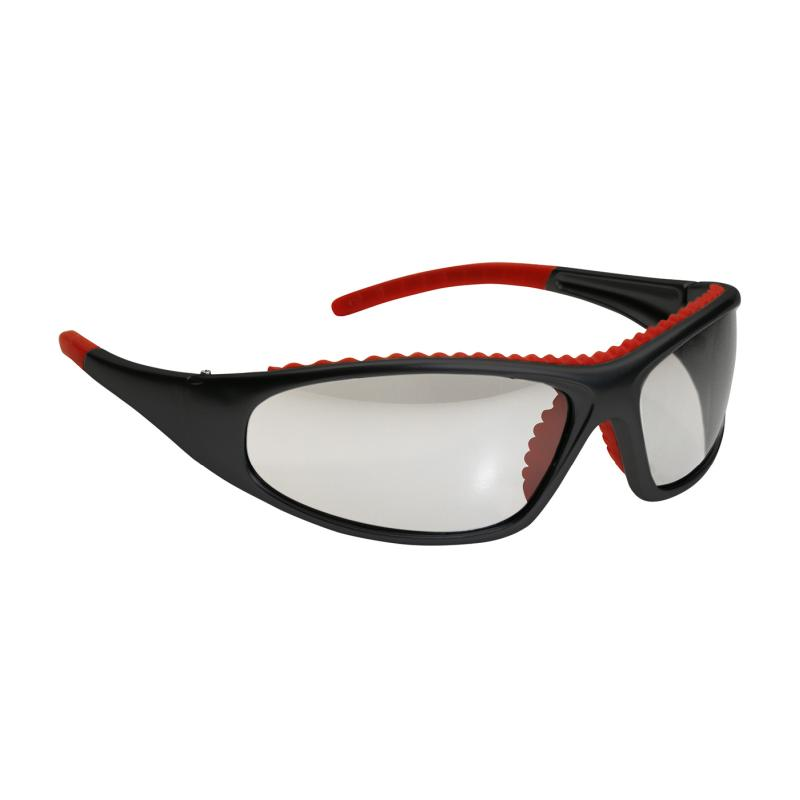 PIP FlashFire™ Clear Anti-Scratch/Fog Coated Lens Full Black/Red Frame Safety Glasses