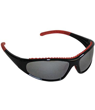 PIP FlashFire™ Silver Mirror Anti-Scratch/Fog Coated Lens Full Black/Red Frame Safety Glasses
