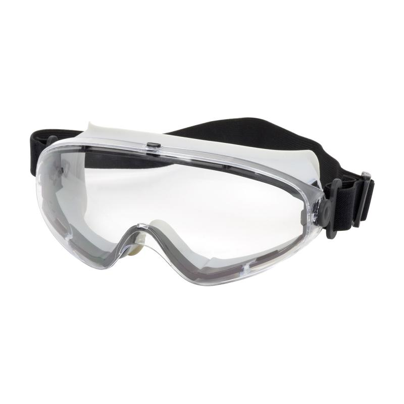 PIP  Fortis™ II Clear Anti-Scratch/Fog Coated Lens Light Gray Body Indirect Vented Safety Goggles - Non Latex Straps