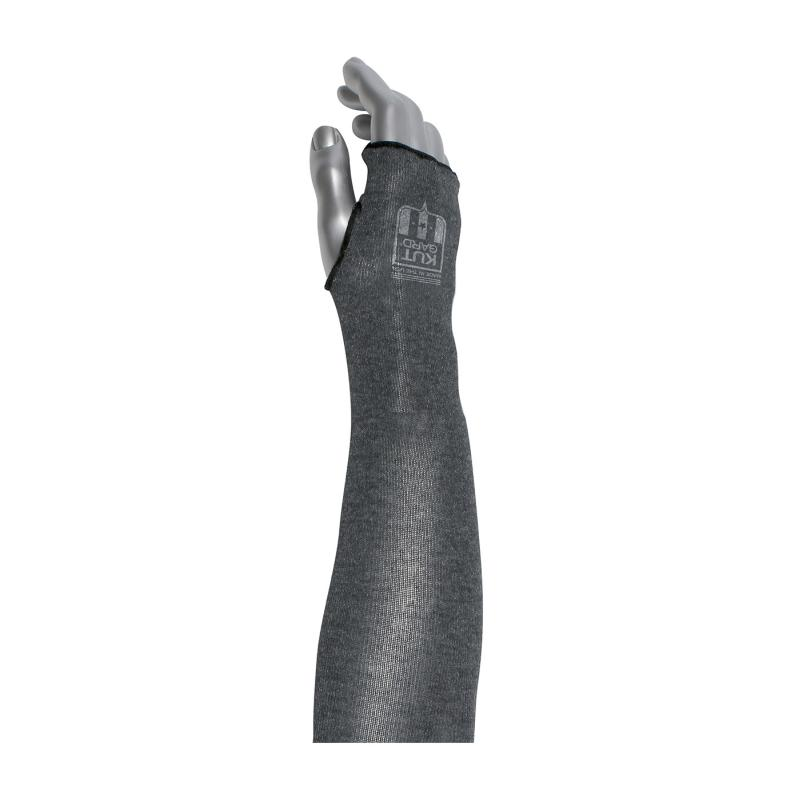 PIP Kut Gard® 18 Gray A5 2 Ply ACP/Kevlar Blended Sleeve - Thumb Hole