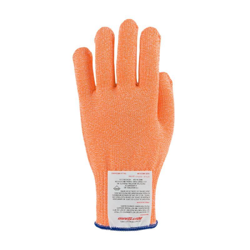 PIP Kut Gard® Orange Seamless Knit Antimicrobial/Dyneema® Cut Resistant Gloves - Medium Weight