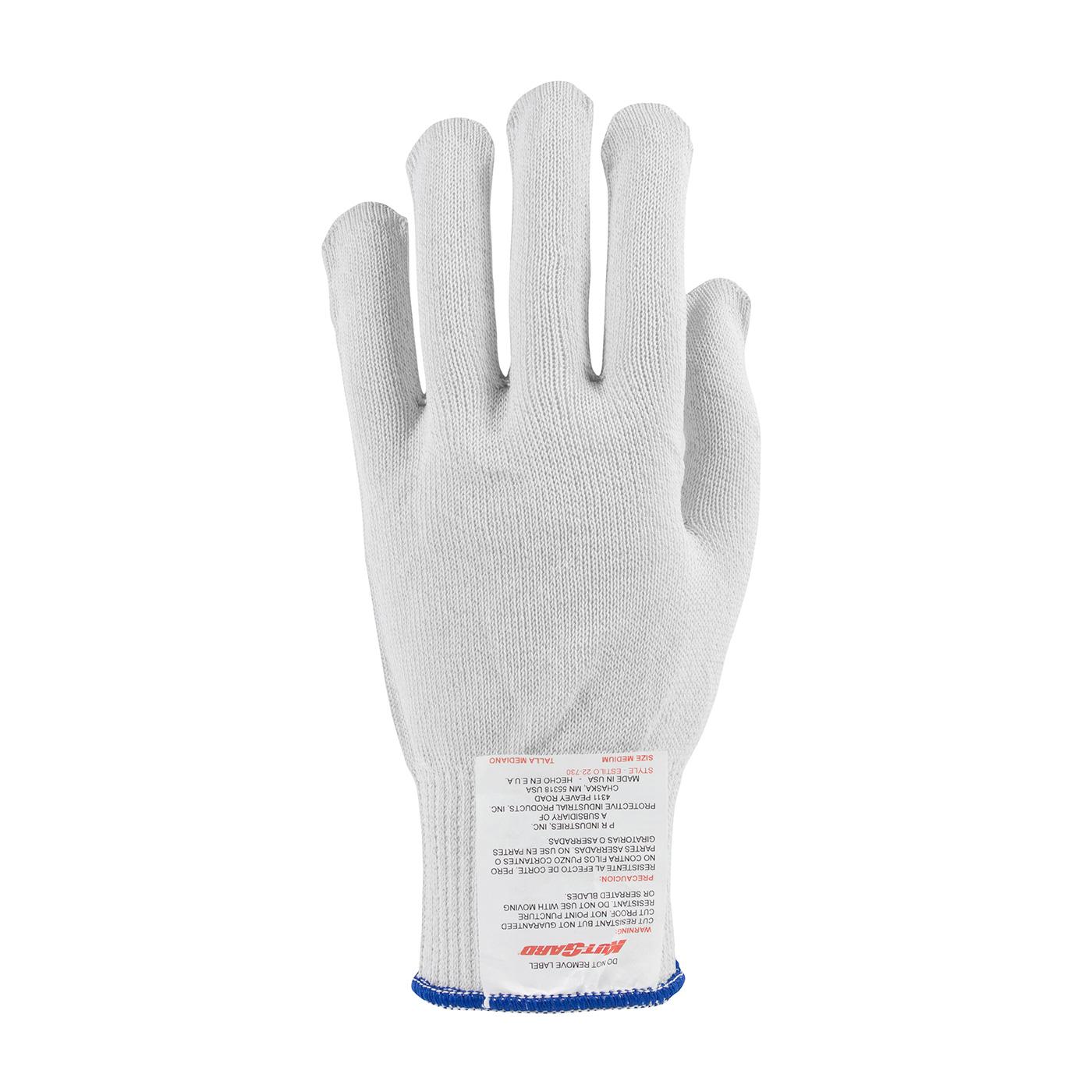 PIP Kut Gard® White Seamless Knit PolyKor Cut Resistant Gloves - Light Weight