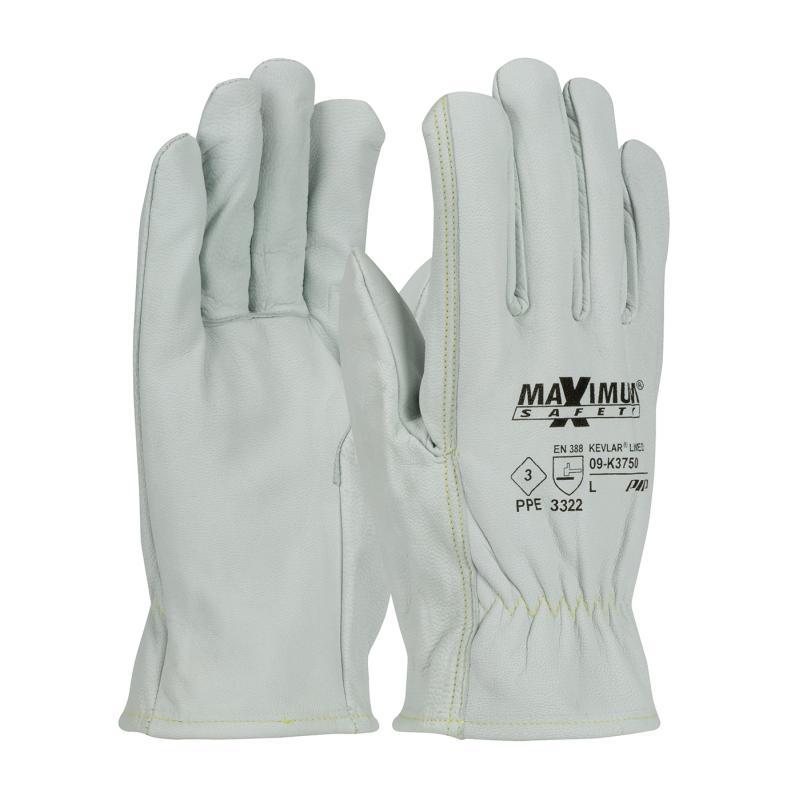 PIP Maximum Safety® 13 Gauge Natural Kevlar Lined Top Grain Goatskin Leather Gloves