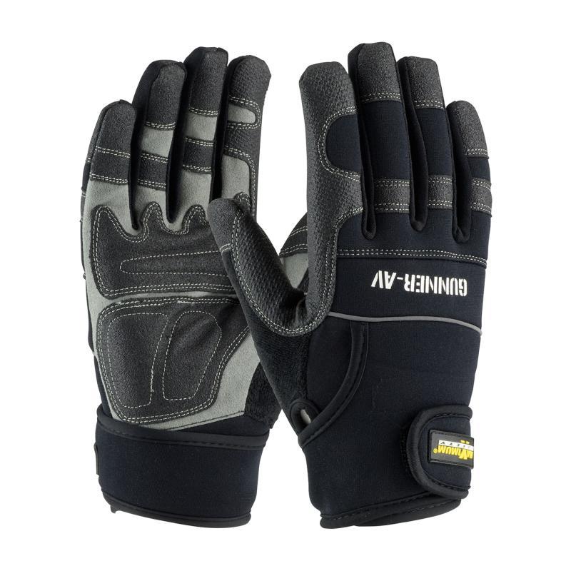 PIP Maximum Safety® Gunner™ AV Synthetic Leather Palm Neoprene/Nylon Safety Gloves