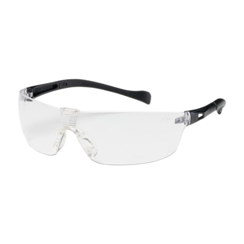 PIP Monteray II™ Clear Anti-Scratch/Fog Coated Lens Black Temple Rimless Safety Glasses