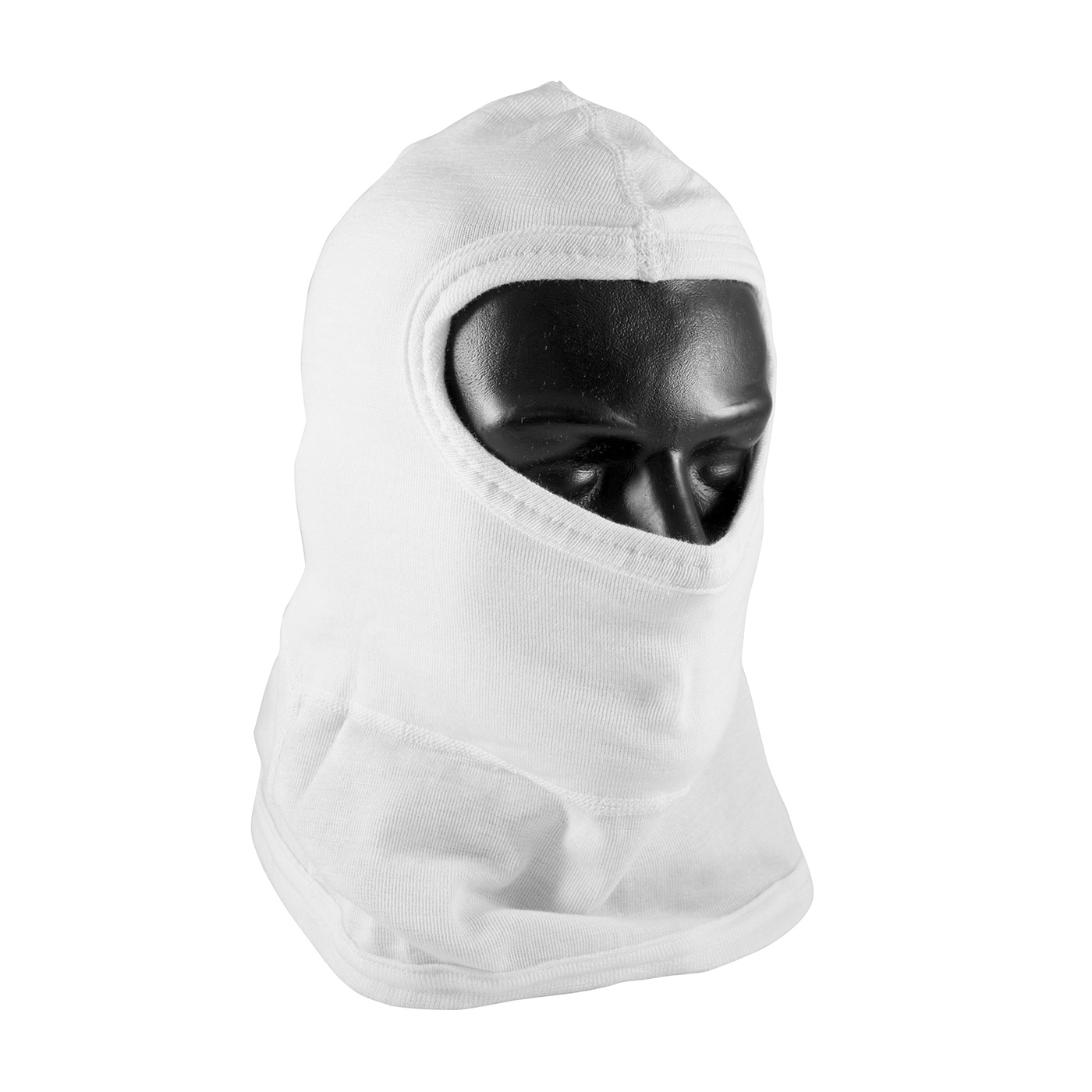 PIP® Nomex® White Double Layer Fire Resistant Full Face Hood With Bib - One Size