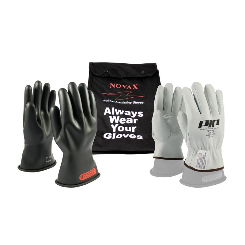 PIP Novax® 11 Black Class 0 Electrical Gloves Safety Kit