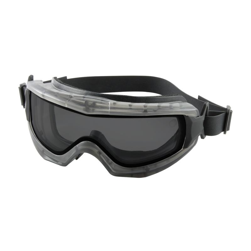 PIP Reaction™ Gray Anti-Scratch/Fog Coated Double Lens Gray Body Indirect Vented Safety Goggles - Neoprene Straps